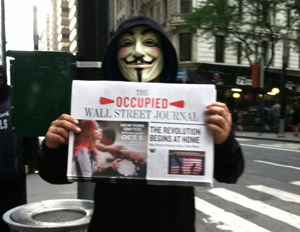 Wall Street protesters take to the streets of Manhattan's Financial District (Image: Janel Martinez)