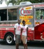 The Cravings Truck owners Johnathon Sellers and Kianta Key pose outside of their mobile restaurant in Tallahassee, Florida (Image: Source)