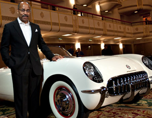 Welburn with a 1953 Corvette
