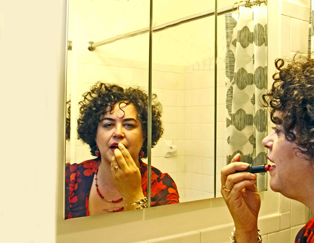 Poet Carolina Gonzalez gets ready for her close-up