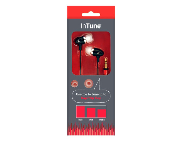 Fuse's InTune Earphones, $24.99     These in-ear headphones allow music lovers to heighten their audio experience based on the musical genre.  Choose from jazz/classical, pop/easy listening, rock/blues/country and rap/hip hop music.
