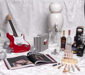 From left to right (front row): Def Jam Recordings: The First 25 Years of the Last Great Record Label, Aloha Sea Salt Collection