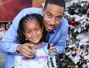 Ludacris with his enterprising daughter, Karma