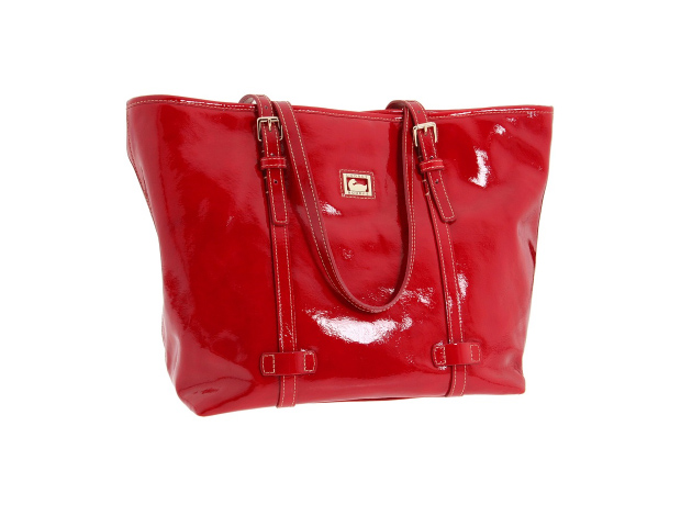"Statement Accessories: ""These extend mileage of your wardrobe,"" Taylor says. You can add statement pieces to spice up ensembles worn time and time again. Obama often carries bright-hued totes similar to this patent leather Dooney & Burke bag ($278)."