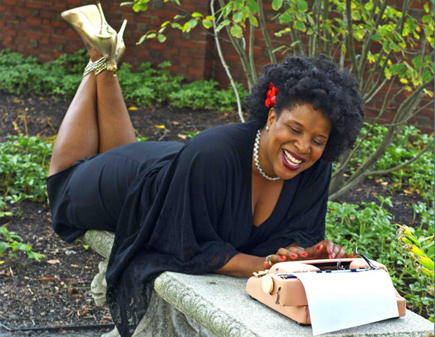 Author Tayari Jones is all smiles in the visual excerpt from Her Word as Witness