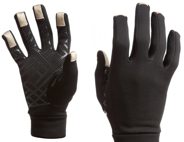 Free Hands' Touch Screen Gloves, $26  For the man (or woman) who still needs to text in a blizzard or finish reading that chapter on his tablet, the Power Stretch 5 Finger Liner gloves are the ideal gift. Thanks to black or silver silicon screened palm for grip and silver plated polyamide tips on all fingers, these gloves can conduct enough electrostatic energy to allow users to operate a touch screen device without taking them off. The gloves are also wind resistant and have moisture wicking technology on the inside.