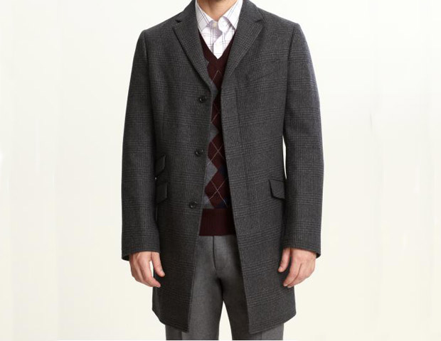 Banana Republic Plaid Topcoat, $298 