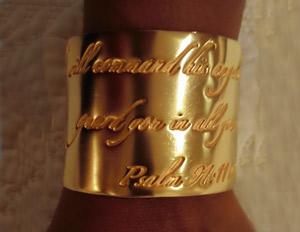 Caroline's gold bracelet by Janet Hill Tolbert