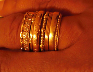 Caroline's collection of rings are a sentimental staple in her life