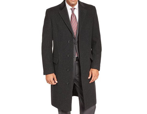 Lauren by Ralph Lauren Charcoal Texture Chesterfield Topcoat, $220
