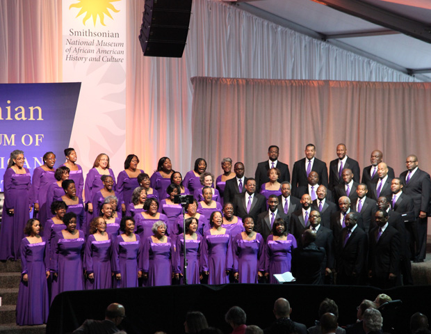 """The Heritage Signature Chorale performed """"My Soul is Anchored in the Lord,"""" a spiritual composed by Florence Price, one of the first African American women recognized as a symphonic composer."""
