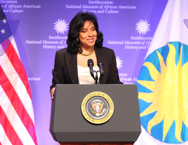 Actress Phylicia Rashad served as the mistress of ceremonies for the historic event.