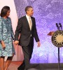 President Obama and Michelle Obama joined the proceedings to commemorate the largest such undertaking to reveal the contributions of African Americans to the world.