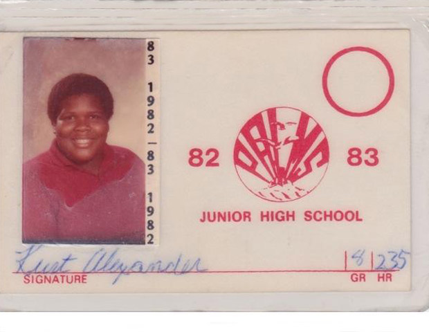 BEFORE: Big Boy's struggles with weight began early on in life as his 8th grade school ID shows