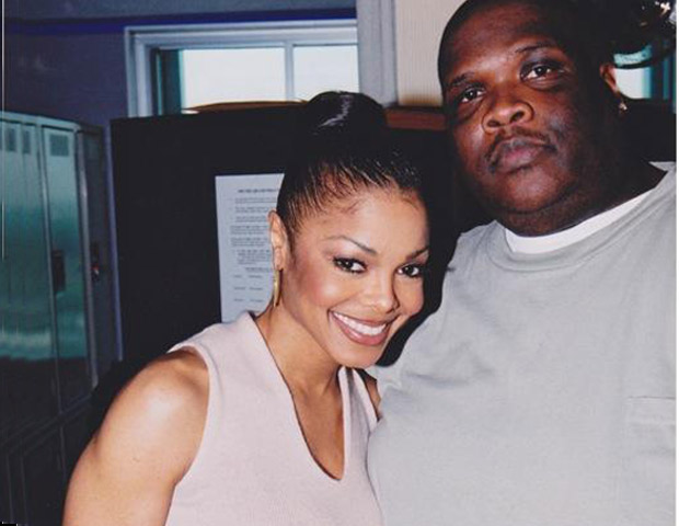 BEFORE: A pre-weight loss Big Boy with Janet Jackson