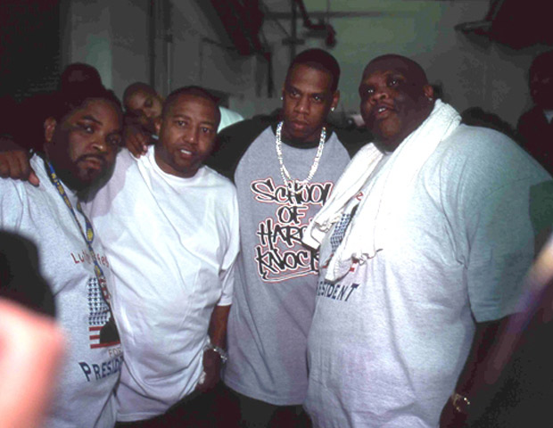 BEFORE: Big Boy backstage with music executive Kevin Liles and entertainer Jay-Z