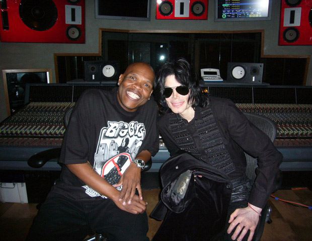 AFTER: A slim and trim Big Boy in studio with music icon Michael Jackson
