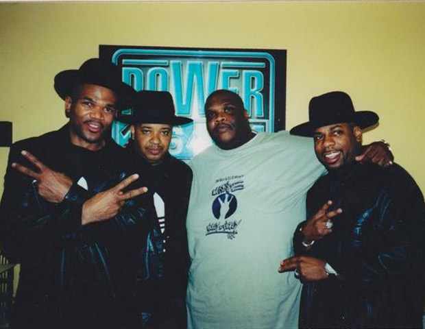 BEFORE: In his heavier days, Big Boy poses with legendary hip-hop group Run-DMC