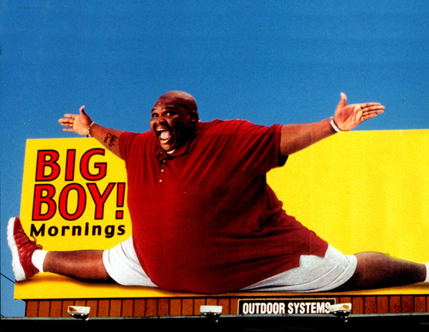 BEFORE: During his rise to fame as a on-air personality, Big Boy played up his plus-size for his audience, although his consistent weight gain was putting his life at risk