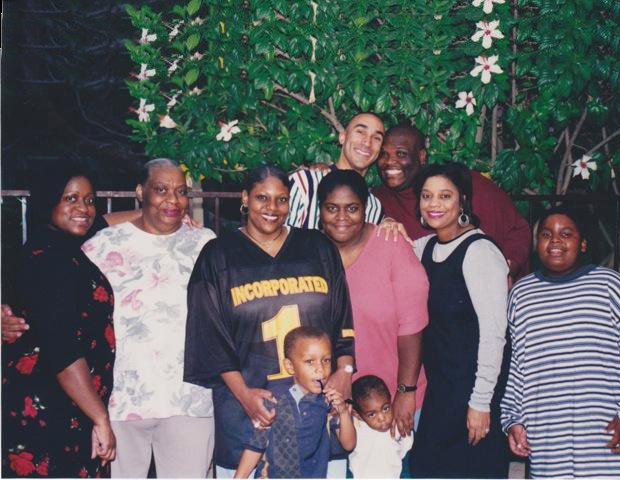 BEFORE: Big Boy in his plus-size days poses with his family