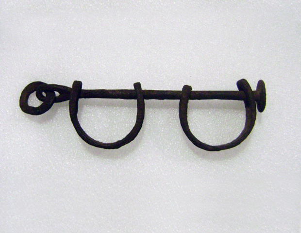 Middle Passage Shackles (wrought iron), c. pre-1863