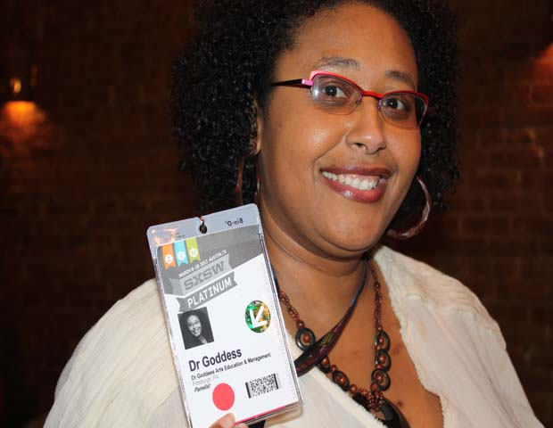 "Kimberly ""Dr. Goddess"" Ellis, Activist/Writer/Entertainer/Entrepreneur/Scholar of American and Africana Studies  
