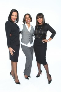 Black Enterprise Multimedia Special Projects Editor Sonja Mack with Sundra L. Ryce, President & CEO of SLR Contracting & Service Co. Inc. (left) and Chekesha Kidd, President of Aetna Student Health (Photo by Lonnie C. Major)
