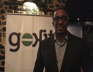 Gokit founder Hajj Flemings poses for a picture at his startup's launch party held at this year's SXSW Interactive Festival (Image: Winston Ford)