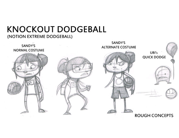 The early stages of Notion Games' upcoming title, Knockout Dodgeball.