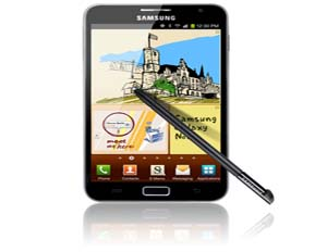 The Samsung Galaxy Note serves as a nice balance between a tablet and smartphone (Image: Samsung)