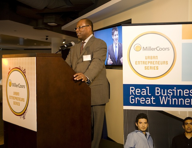 "MillerCoors Multicultural Relations Director Larry Waters underscores the MUES mission: ""To help empower and encourage emerging  business owners as they pursue their dreams of entrepreneurship."""