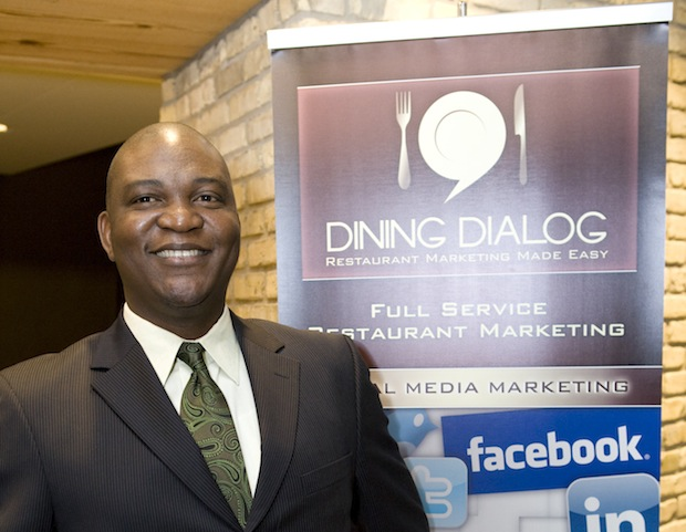 The top winner of the MUES business plan competition, earning a grant of $50,000, is Ola Ayeni. His business, Bolingbrook, Illinois-based Dining Dialog, helps food and beverage companies increase revenues through a mix of customer acquisition and retention marketing programs.