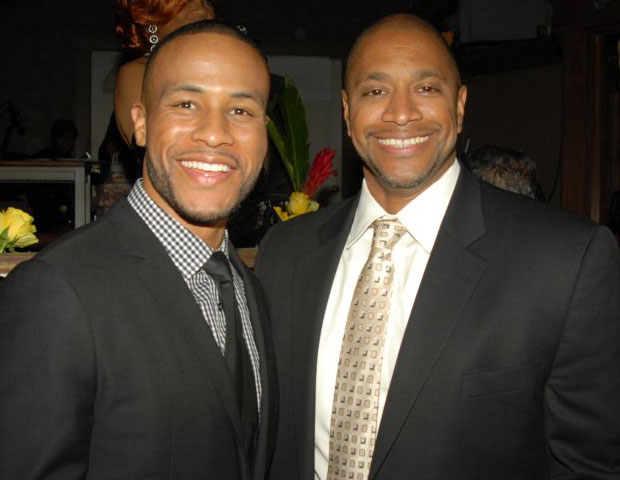 Sony Pictures VP Paul Martin (right) & VP Devon Franklin, who made an impassioned appeal for greater community in Hollywood.