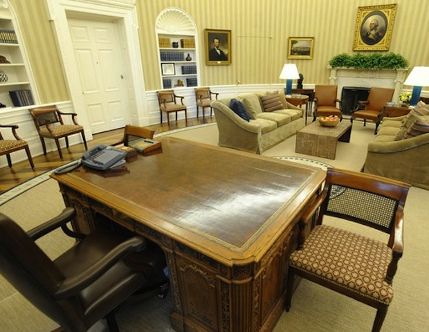 The Oval Office includes items and objects that inspire President