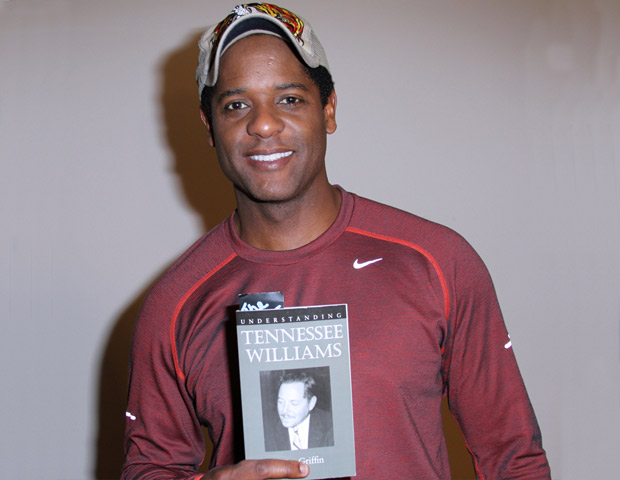 Blair Underwood shows his appreciation for Tennessee Williams.