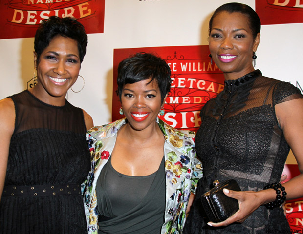Actresses Terri J. Vaughn, Melinda Williams and Vanessa Williams come out to show their support for Streetcar.