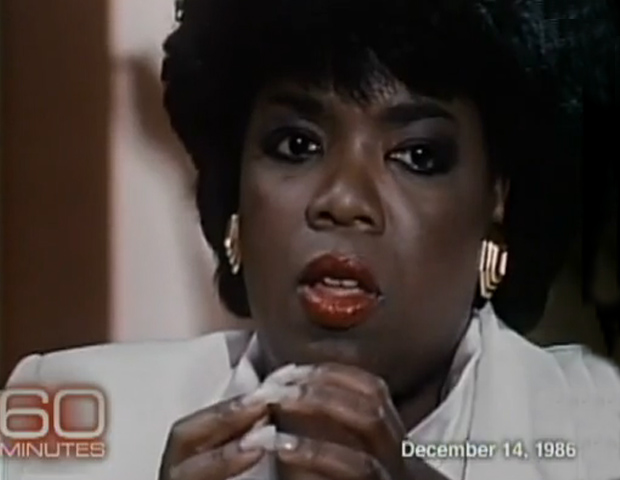 "In 1986, a pre-billionaire Oprah Winfrey talked with Wallace about how she overcame racial challenges being a black newscaster in the South, her issues with her weight, and how she prepped for her rise to talk show success. ""I know now that I'm where I am because I always believed I could get here,"" Winfrey said. 