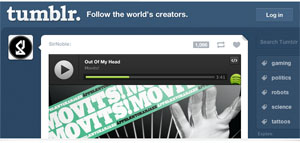 Spotify Play Button is now integrated into the Tumblr dashboard (Image: Spotify)