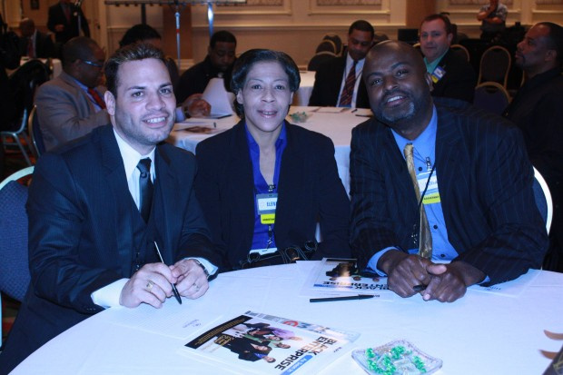 Local Walmart team members Al Rivera, Elena Payne, and Howard Kerr enjoyed networking with Chicagoland businesses.