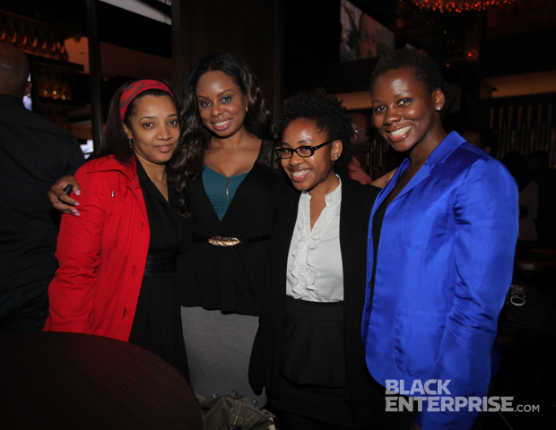 BlackEnterprise.com's digital divas team: Suncear Scretchen, Janell P. Hazelwood, Janel Martinez and Elayne Fluker are all smiles at the close of a great event