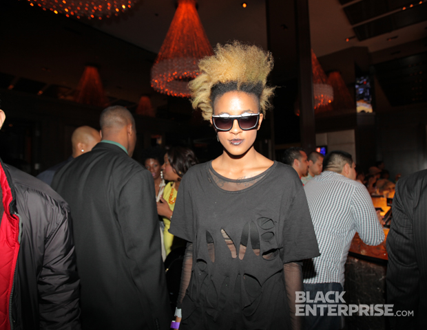 One-half of the dynamic eyeglass design duo, Coco & Breezy, showed her support for Black Blogger Month