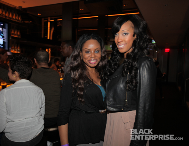 BlackEnterprise.com's Associate Producer Janell P. Hazelwood shares a moment with Black Blogger Month 2012 honoree Christen Rochon of Divas & Dorks