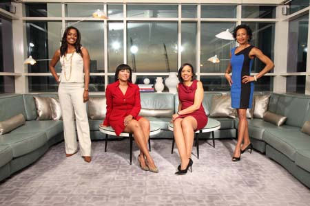 (l-r) Robin A. Young, Financial Adviser and President, Women Behaving Wealthy; Lori Anne Douglass, Partner, Trusts and Estates Group, Moses & Singer L.L.P.; Sharon Epperson, CNBC Senior Commodities and Personal Finance Correspondent; Dail St. Claire, President, Williams Capital Management
