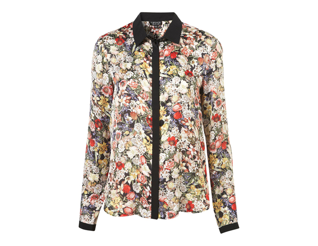 Floral prints: While head-to-toe floral print may be better suited for weekend or afterwork leisure, you can still get in on the fun around the office with this floral shirt from Topshop ($80), which you can layer under a suit or pair with a neutral-hued cardigan.
