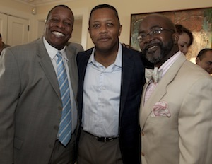 Eugene Profit (center) with Black Enterprise Magazine Editor-in-Chief Derek T. Dingle and Black Enterprise Editor-at-Large and Urban Business Roundtable Host Alfred Edmond Jr.