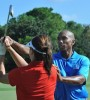 Rodney Green instructs a golfer. (Image: File)