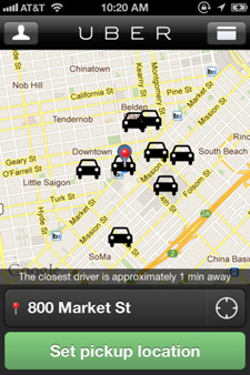 Uber app on the iPhone (Image: Uber)