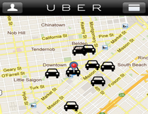Uber App Allows Passengers to Secure Taxi Service Instantly