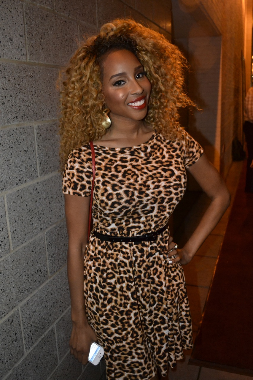 Celeb blogger Necole Bitchie attended the invite-only uptown event.