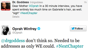 Dr. Goddess Responds to Oprah Winfrey